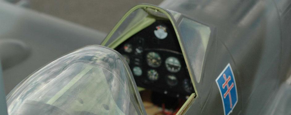 spitfire Details of the cockpit - Jets RC - Aviation Design