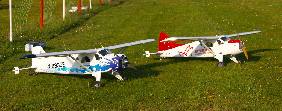 2 Beaver waiting for take off - Jets RC - Aviation Design