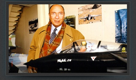 Serge Dassault visiting Aviation Design