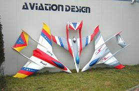 Angel 3 livrées différentes - Jets radio-commandés - Aviation Design
