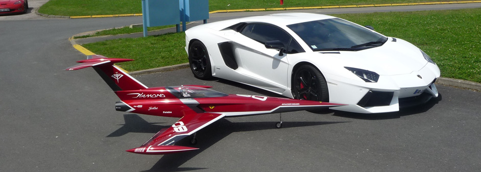 diamond & lamborghini prêts au départ - Jets RC - Aviation Design