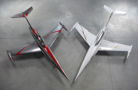 2 Diamond vue de dessus - Jets radio-commandés - Aviation Design