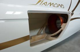 Trappe moteur du Diamond avec tuyère installée - Jets radio-commandés - Aviation Design