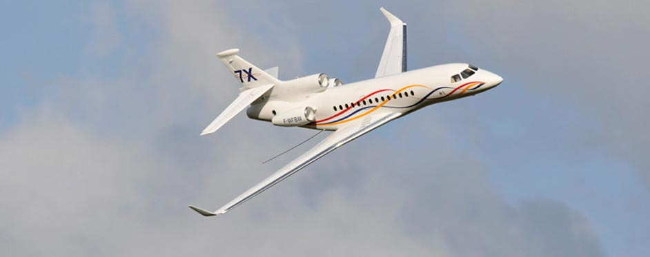Falcon 7X en passage - Jets RC - Aviation Design