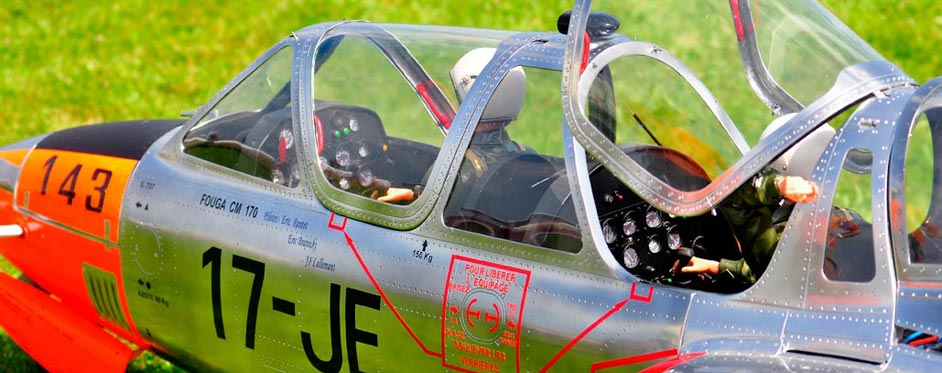 Fouga magister détails du cockpit - Jets RC - Aviation Design