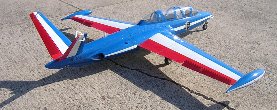 Fouga Magister livrée Patrouille de France - Jets RC - Aviation Design
