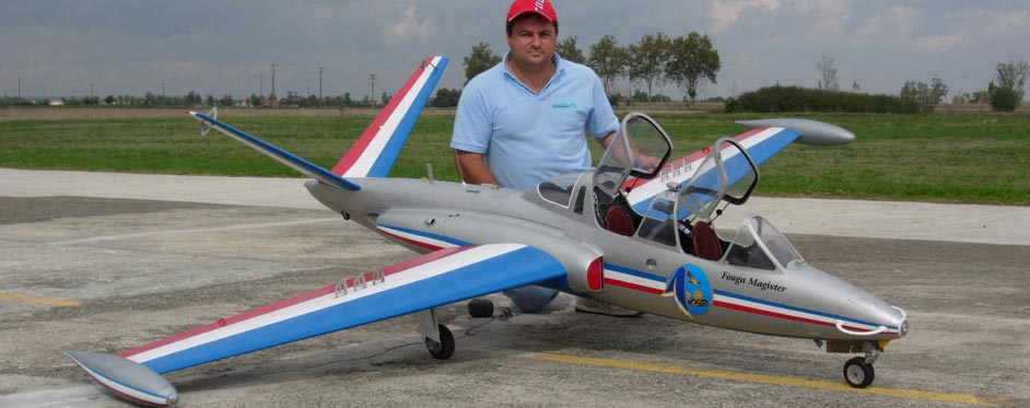 Marc Levy et son Fouga Magister du championnat du Monde F4C - Jets RC - Aviation Design