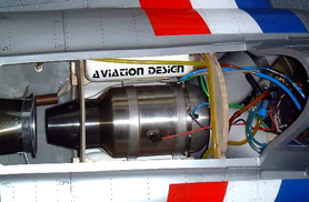 Fouga Magister installation turbine - Jets radio-commandés - Aviation Design