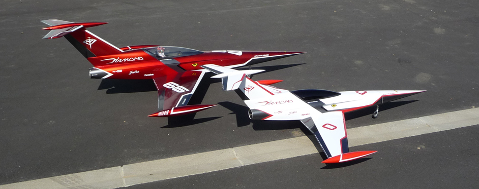 Diamond et Mini Diamond de trois quarts - Jets RC - Aviation Design