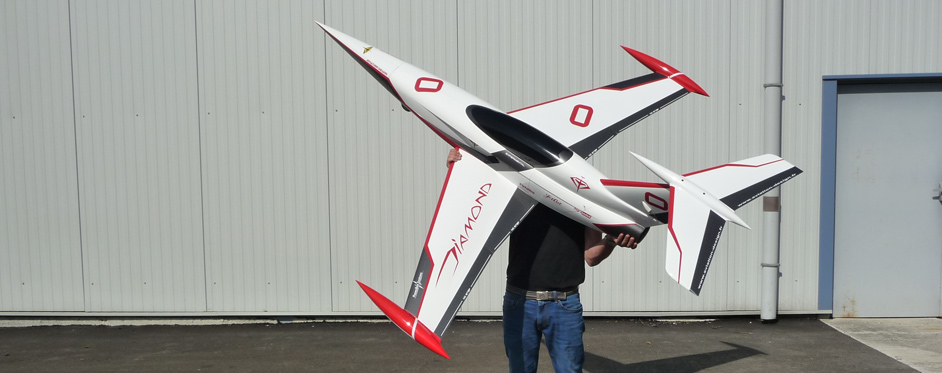 Mini Diamond blanc - Jets RC - Aviation Design