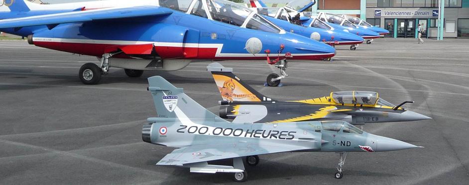 Mirage 2000 et Patrouille de France - Jets RC - Aviation Design