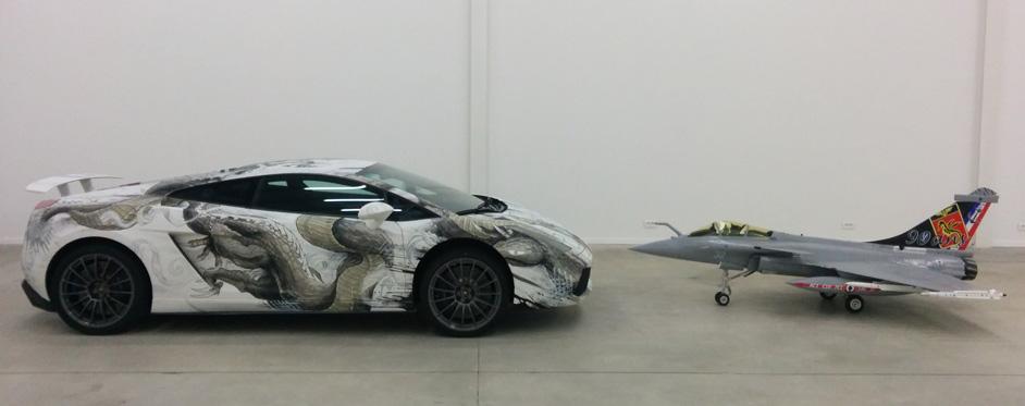 Face à face Rafale & Lamborghini - Jets RC - Aviation Design