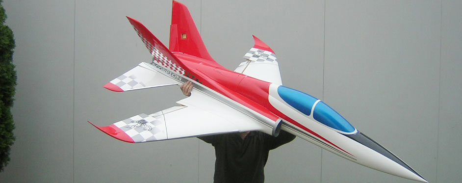 Scorpion blanc rouge argent extrados - Jets RC - Aviation Design