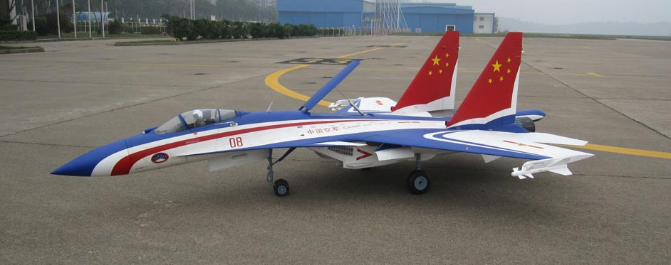 Sukhoi 35 déco Chinoise de Simon To - Jets RC - Aviation Design