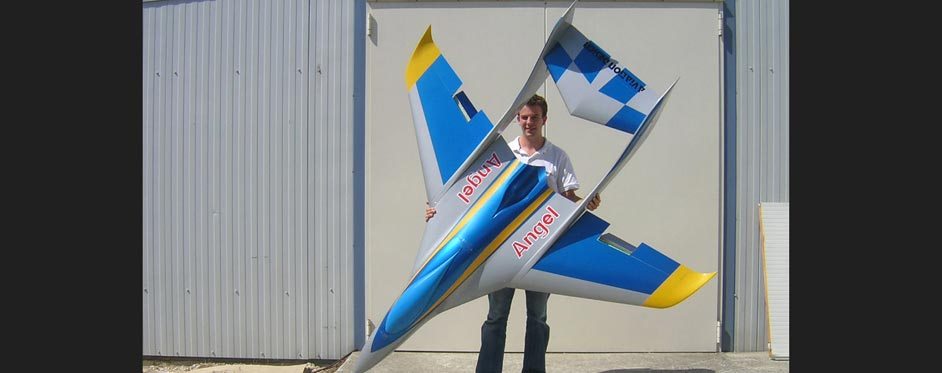 Angel is designed as a sport model and a speed model - Jets RC - Aviation Design