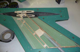 Diamond rudder under assembly - RC Jets models - Aviation Design