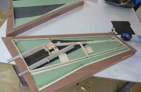 Diamond wing under assembly - RC Jets models - Aviation Design