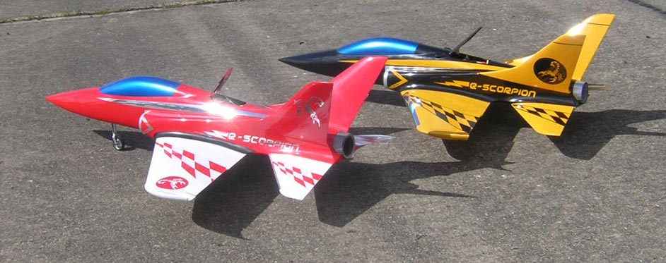 e-Scorpion with air brake open - Jets RC - Aviation Design
