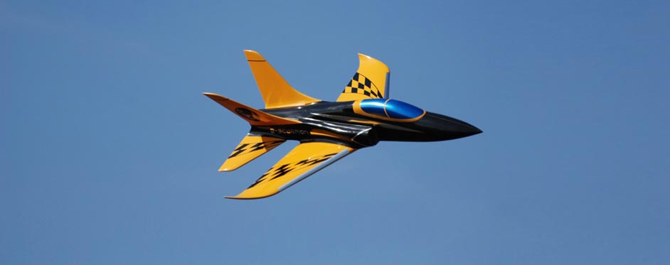 In flight e-Scorpion - Jets RC - Aviation Design