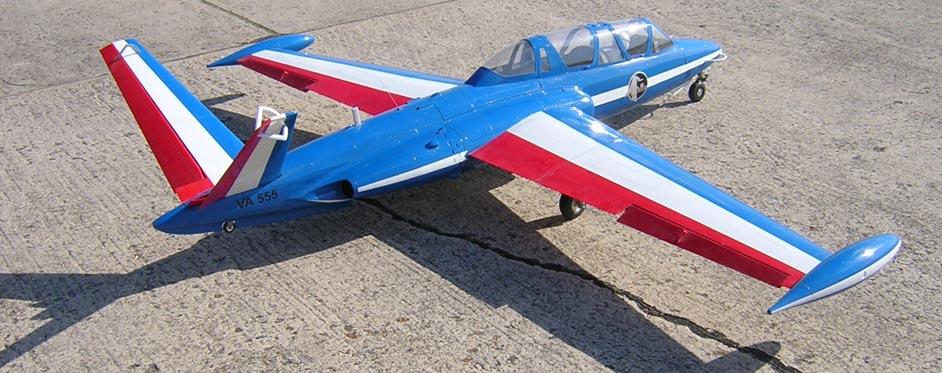 Patrouille de France Fouga Magister - Jets RC - Aviation Design