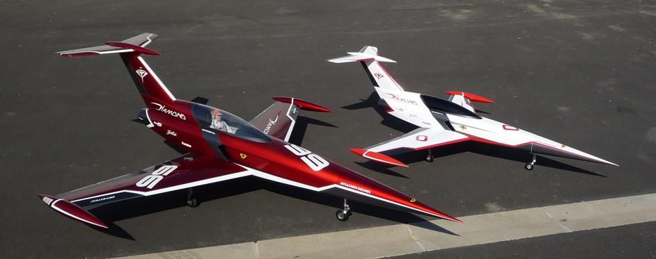 Diamond and Mini Diamond side by side - Jets RC - Aviation Design