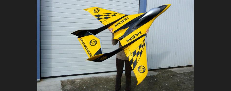 Phoenix yellow black - Jets RC - Aviation Design