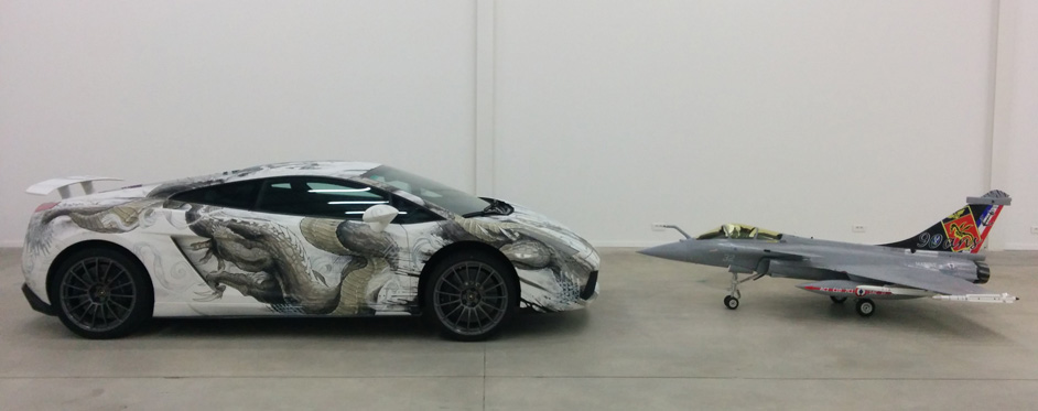 Rafale & Lamborghini face to face - Jets RC - Aviation Design