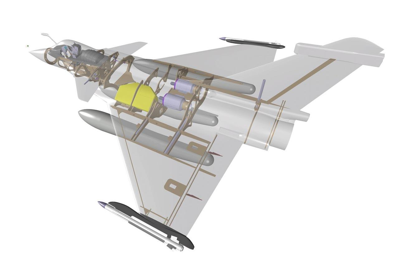 RC Jet Model RAFALE 1/7 scale - Kit designed by Eric Rantet