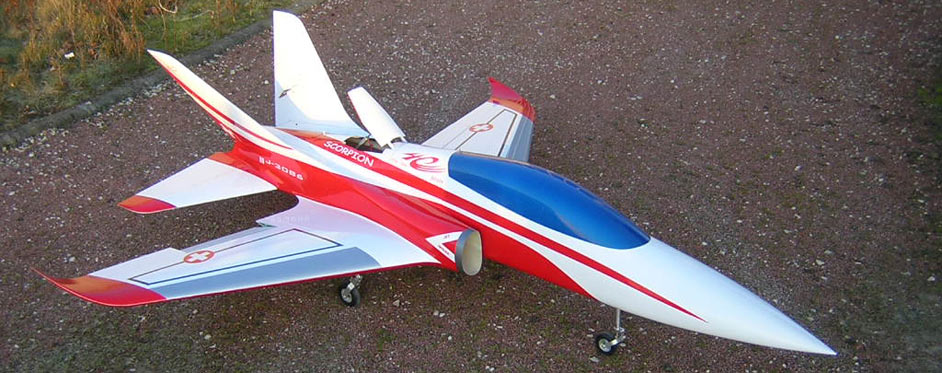 Scorpion with extended air brake - Jets RC - Aviation Design