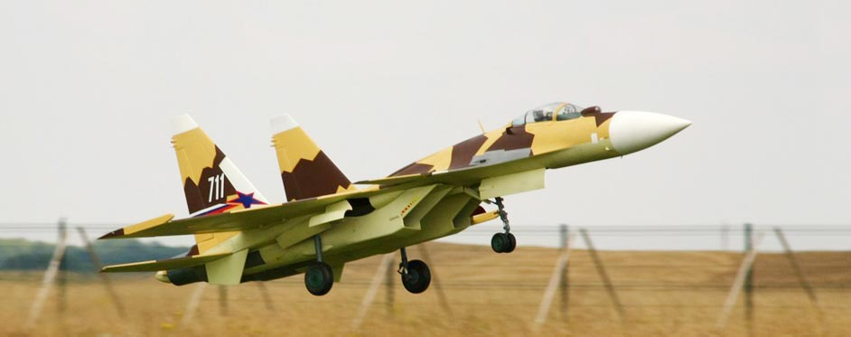 Sukhoi 37 during take off - Jets RC - Aviation Design