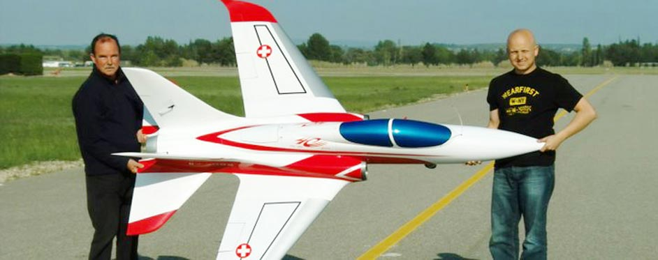 Swiss Super Scorpion on the ground - Jets RC - Aviation Design