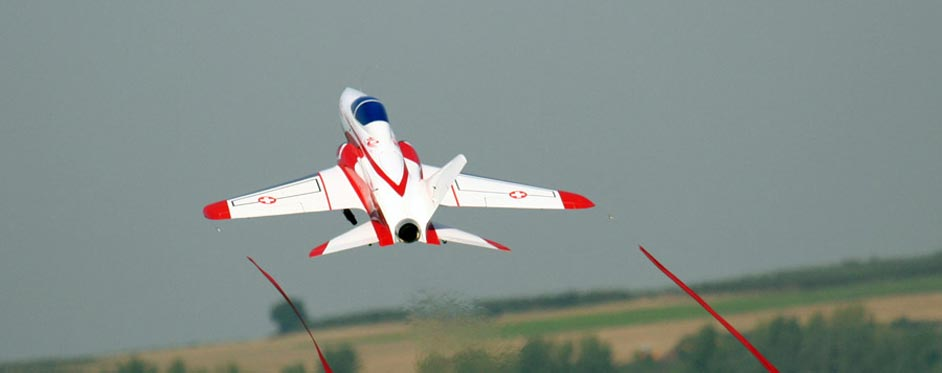 Swiss Superscorpion on take off at JetPower - Jets RC - Aviation Design