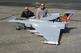 Kit RAFALE 1/5 MARINE JEFF LALLEMAND ÉRIC BRANICKI - RC Jet model - Aviation Design
