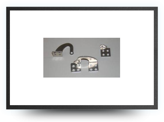 Jets - Large model aluminium door hinges (2 pieces) - Large model aluminium door hinges (2 pieces) - Aviation Design