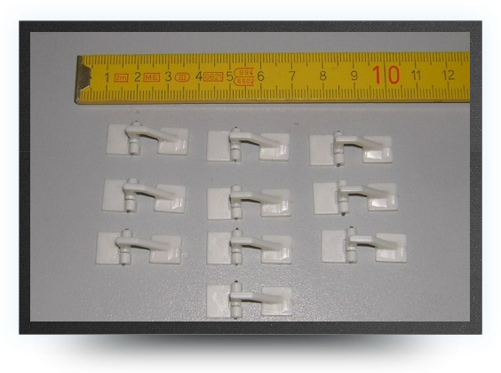 Jets - 10 mini door hinges assembled - 10 mini door hinges assembled - Aviation Design