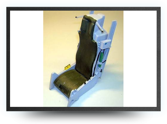 Jets - 1/6,8 F16 ejector seat kit non painted, 180mm x 105mm x 75mm - 1/6,8 F16 ejector seat kit non painted, 180mm x 105mm x 75mm - Aviation Design