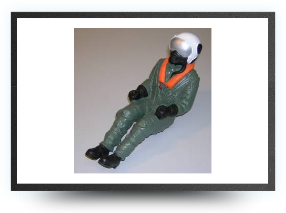 Jets - 1/6 jet pilot painted 230 mm x 88 mm - 1/6 jet pilot painted 230 mm x 88 mm - Aviation Design