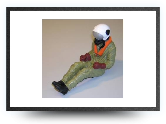 Jets - 1/8 jet pilot painted 175 mm x 75 mm - 1/8 jet pilot painted 175 mm x 75 mm - Aviation Design