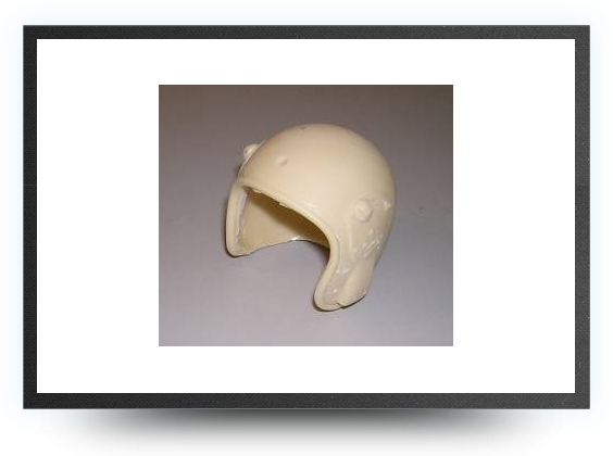 Jets - '¼ jet pilot helmet non painted - '¼ jet pilot helmet non painted - Aviation Design