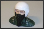 AT 055 : 1/10 Jet Pilot Bust Painted 47 mm x 55 mm, 10 Grammes - Jets radio-commandés - Aviation Design