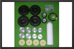 ADJ 637 - 6 wheels set + 4 brakes