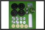 ADJ 637E - 6 wheels set + 4 brakes + electro valve