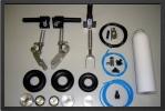 ADJ 340-2 - Deluxe landing gear 2 ways + oleo legs + wheels (all CNC)