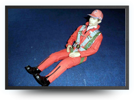Jets - 1/3 super scale pilot, red suit - 1/3 super scale pilot, red suit - Aviation Design