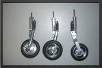 ADJ 125 - Three wheels + brakes + 3 oleo legs (all CNC)