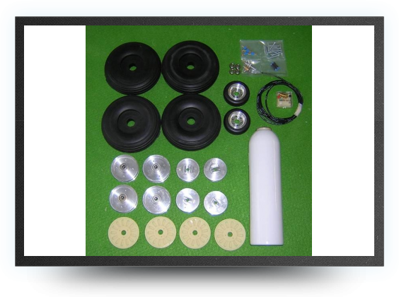 Jets - 6 wheels set + 4 brakes - 6 wheels set + 4 brakes - Aviation Design