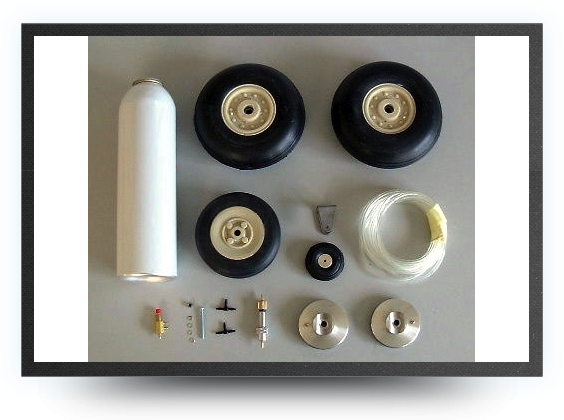 Jets - Wheels set + brakes + micro switch - Wheels set + brakes + micro switch - Aviation Design