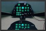 ADJ 542 - LCD lightning cockpit instrument panel
