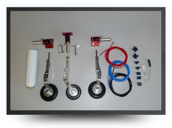 Jets - Deluxe landing gear + 2 electro valves for gear and brakes - Deluxe landing gear + 2 electro valves for gear and brakes - Aviation Design