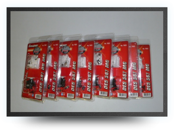 Jets - Servo pack including 8 graupner - Servo pack including 8 graupner - Aviation Design